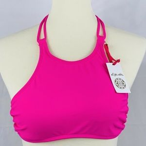 all for color Womens Bikini Top Size Large Pink
